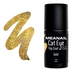 Photo de vernis Top Coat Cat Eye Gold