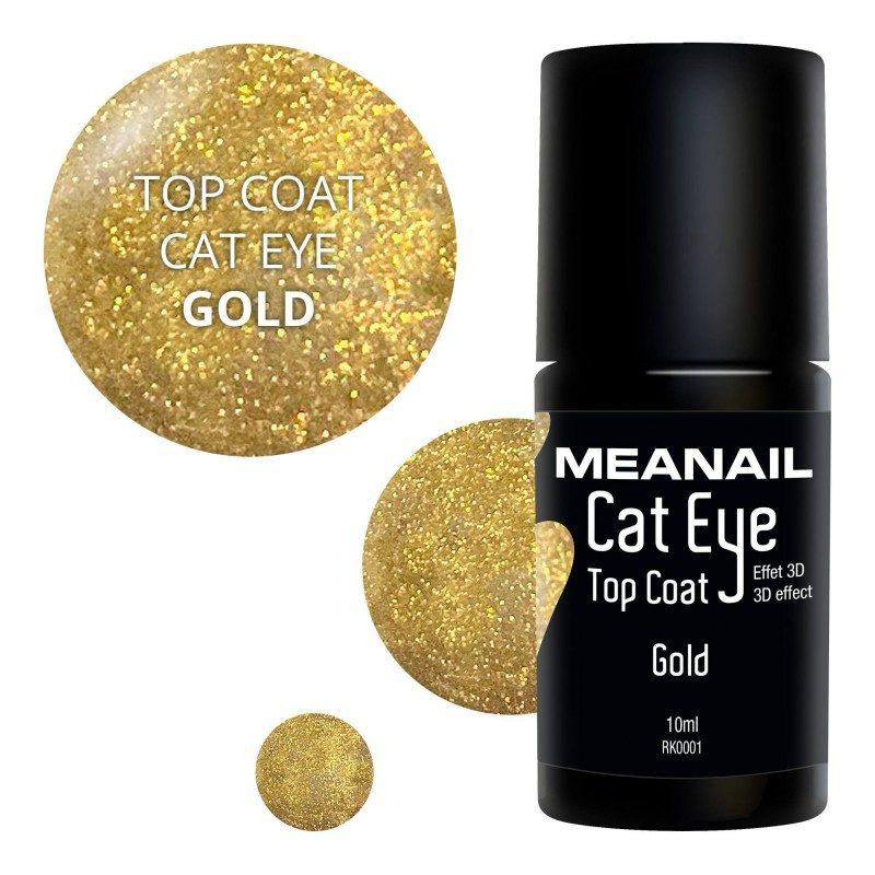 Image de vernis Top Coat Cat Eye Gold