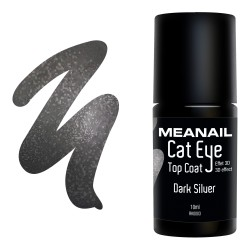Photo de vernis Top Coat Cat Eye Dark Silver