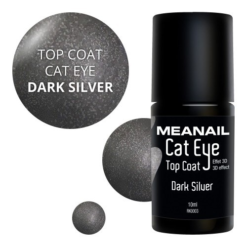 Image de vernis Top Coat Cat Eye Dark Silver
