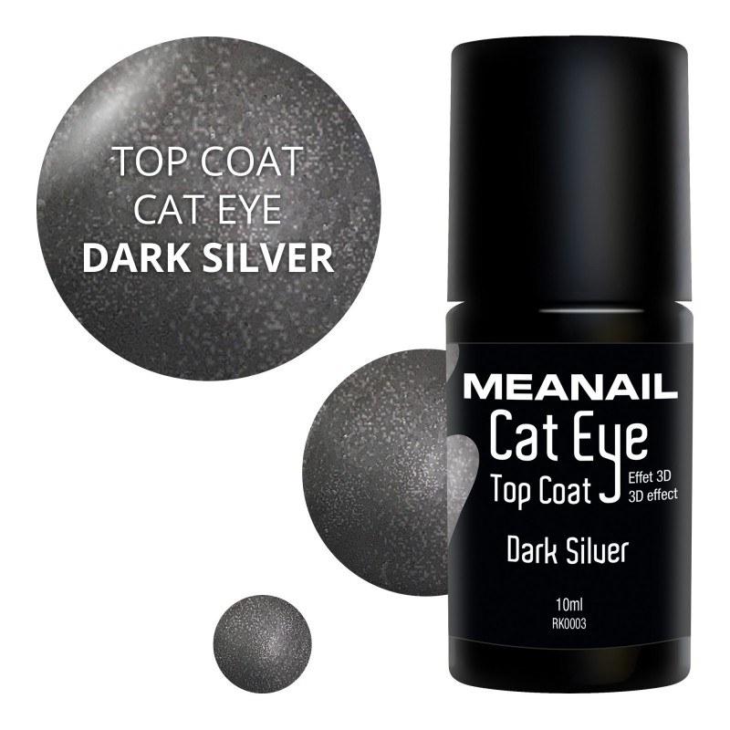 Image de vernis Top Coat Cat Eye Dark Silver