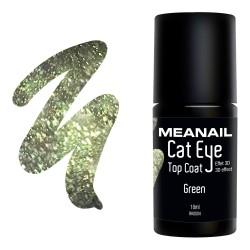 Photo de vernis Top Coat Cat Eye Green