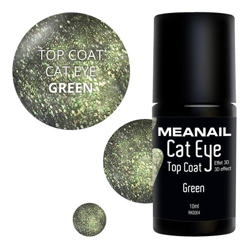 Image de vernis Top Coat Cat Eye Green
