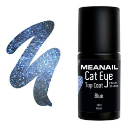Photo de vernis Top Coat Cat Eye Blue