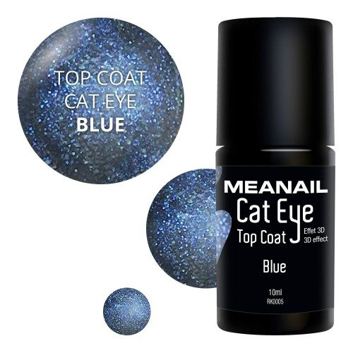 Image de vernis Top Coat Cat Eye Blue