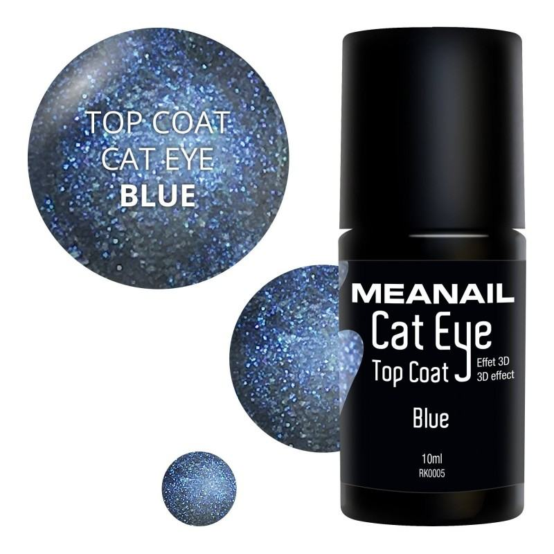 Image de vernis Top Coat Cat Eye Blue