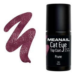 Photo de vernis Top Coat Cat Eye Prune