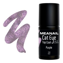 Photo de vernis Top Coat Cat Eye Purple