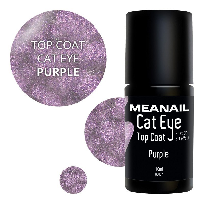 Image de vernis Top Coat Cat Eye Purple