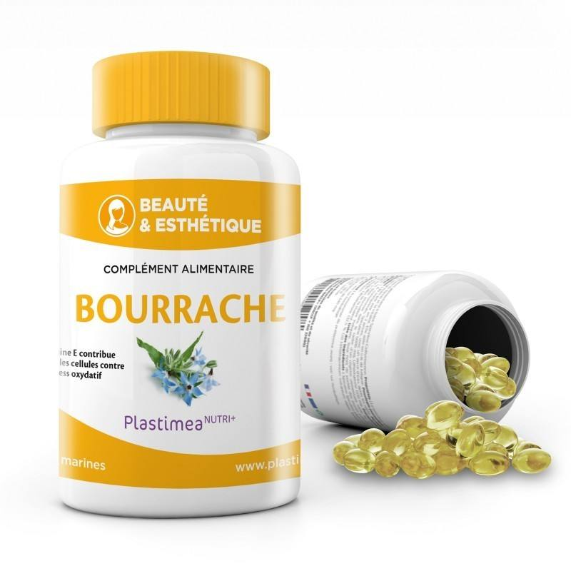 OMEGA 6 - BOURRACHE + VITAMINE E 60 capsules marines 500 mg