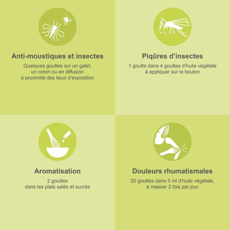 CITRONNELLE DE JAVA – Huile Essentielle Bio 30 ml HEBBD - HECT