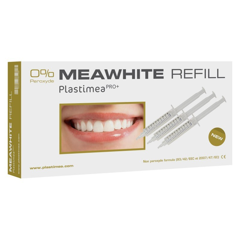 Kit recharge MEAWHITE - Blanchiment des dents - 0% Peroxyde