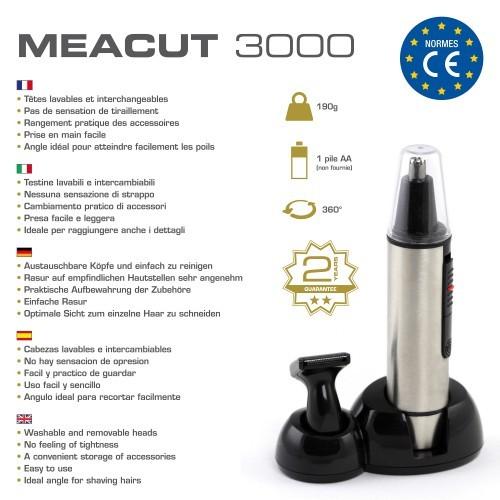 Tondeuse nez, oreilles, sourcils et barbe - MEACUT 3000