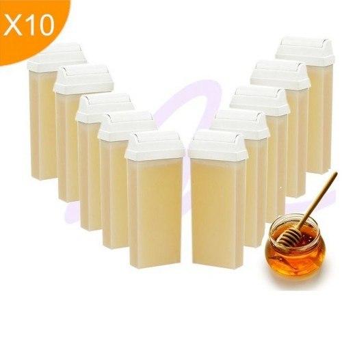 Kit 10 cartouches cire tiède - Miel toutes peaux
