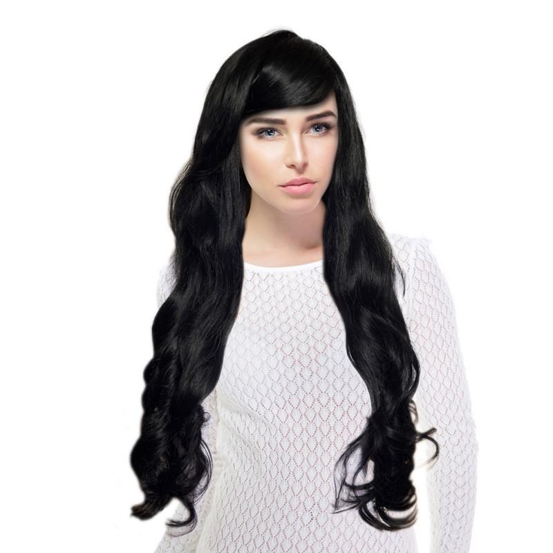 Meawig - Perruque Longue Bouclée avec Frange