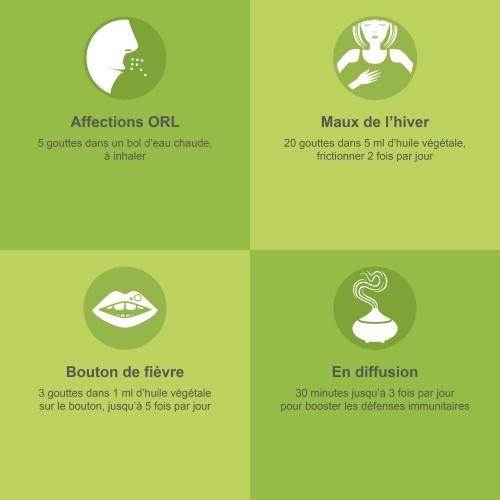 Comment utiliser l'huile essentielle de Ravintsara