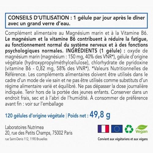 Magnésium Marin + Vitamine B6 - 120 gélules - 300mg