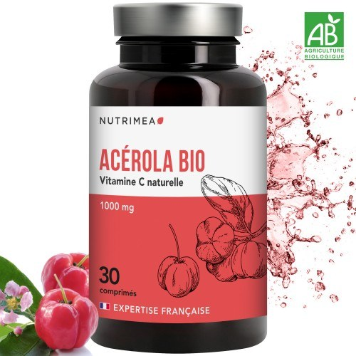 Acerola Bio 100% Naturel - 30 comprimés - 1000mg
