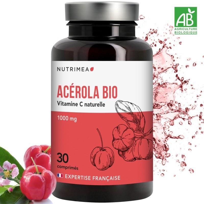 Acerola Bio 100% Naturel - 30 comprimés - 1000mg