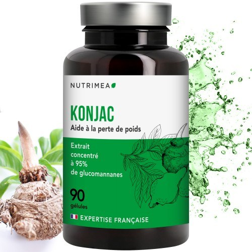PUR KONJAC – 500 mg à 95% de glucomannanes - 90 gélules végétales