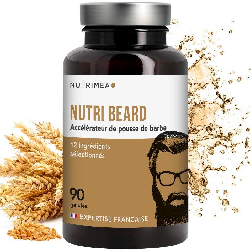 Nutri Beard : Accélérateur pousse de la barbe 90 gélules