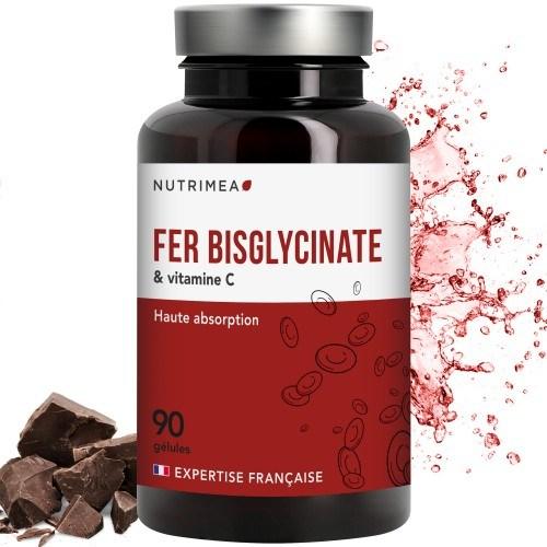 FER bisglycinate + Vitamine C - 14 mg de Fe / gélule - FABRICATION FRANCAISE – 90 gélules végétales
