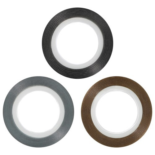 Stripping tape (Pack Black , Golden, Silver)