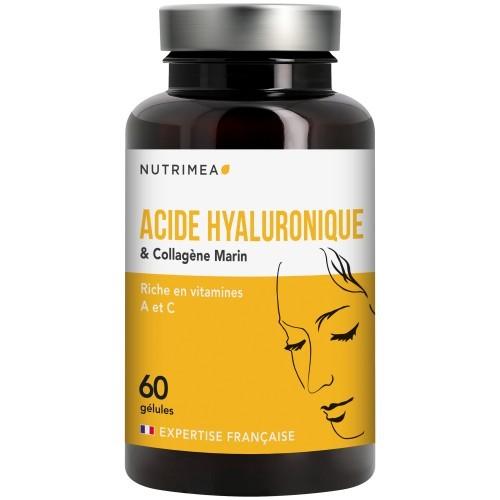 Acide Hyaluronique et Collagène Marin - 60 gélules