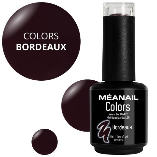 Vue détaillée de vernis Bordeaux