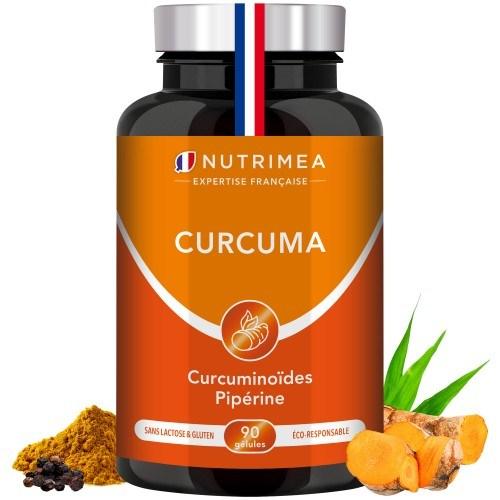 Curcuma Exceptionnel – 500 mg à 95% de curcuminoïdes – 7 mg de Poivre noir à 95% de pipérine - 60 gélules végétales