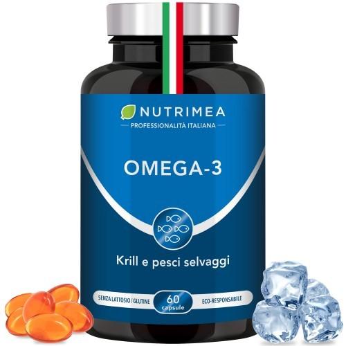 Omega 3 + Krill - 60 capsules molles - 1000mg / jour 33/22 TG