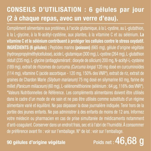 L-Glutathion 400 mg 90 gélules