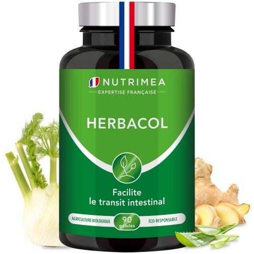HerbaCol - 90 gélules. - Complexe 6 plantes et probiotiques