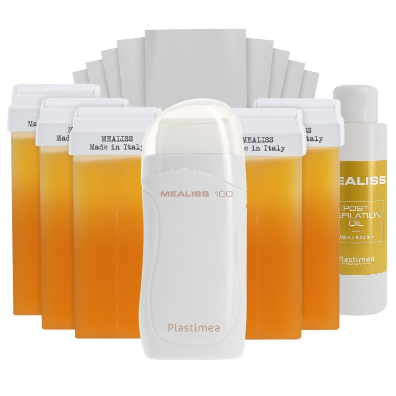 KIT ROLL ON Mealiss® 100 • Epilation Cire Tiède • Cartouches et bandes