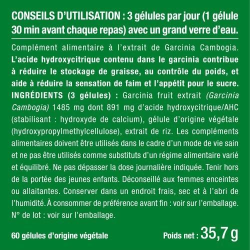 Photo du packaging du complément Garcinia Cambogia