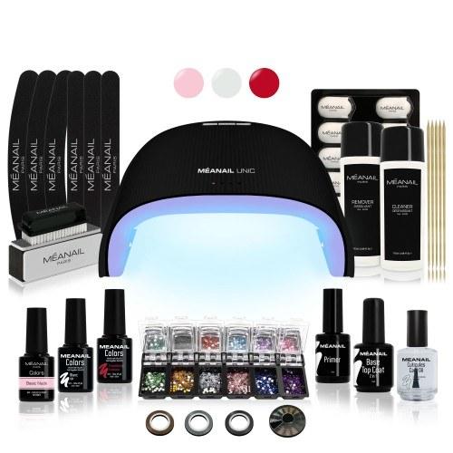 KIT DELUXE EDITION LIMITEE - Manucure semi-permanente - 30 accessoires et lampe UV Noire 36W