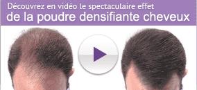 Découvrez en vidéo le spectaculaire effat de la poudre densifiante cheveux